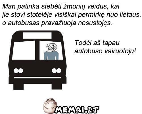 Autobuso vairuotojas